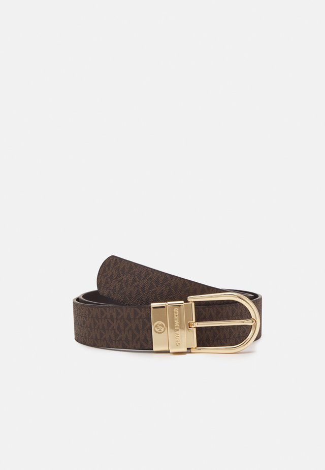 REVERSIBLE BELT - Belte - brown/chocolate/gold-coloured