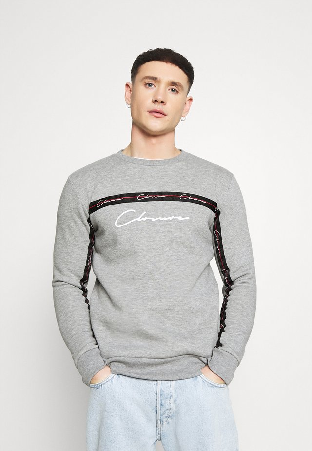 SCRIPT CREWNECK WITH TAPING - Sweatshirt - grey