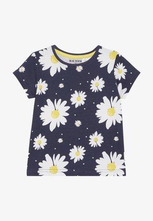 Print T-shirt - dunkel blau