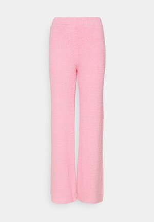 POPCORN WIDE LEG TROUSERS - Trousers - pink