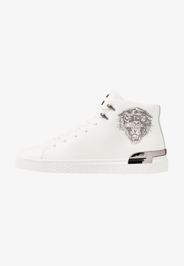NEW BEAST TOP - Sneakers high - white gunmetal