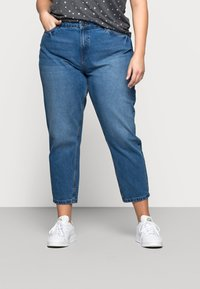 Noisy May Curve - NMISABEL MOM - Relaxed fit jeans - medium blue denim - 0