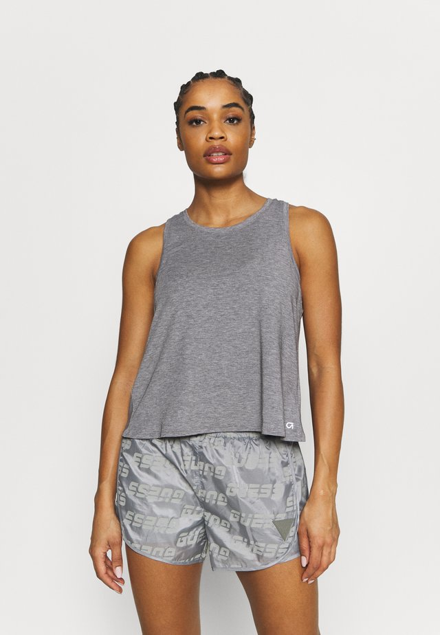 BREATHE WRAP BACK TANK - Top - heather grey