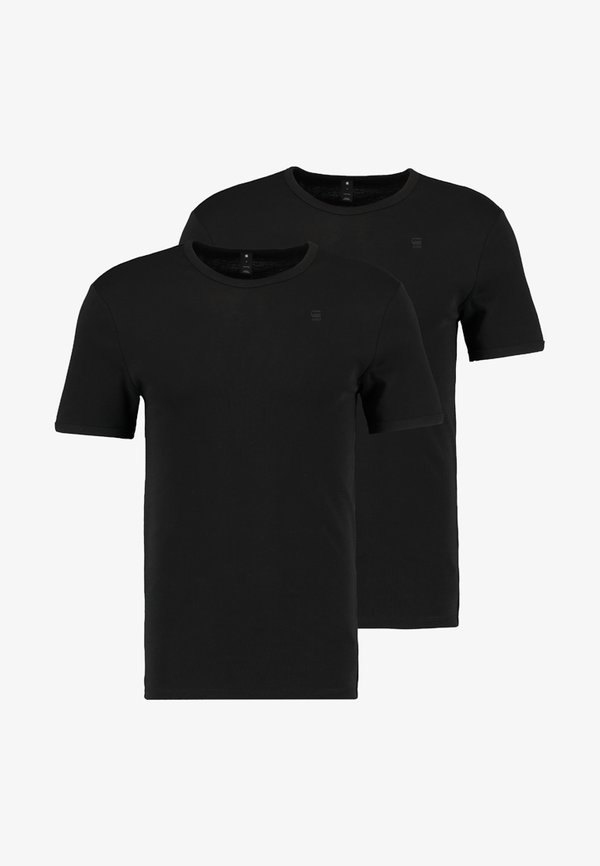 G-Star BASE 2 PACK - T-shirt basic - black/czarny Odzież Męska UXHF
