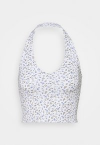 Hollister Co. - BARE HALTER - Topper - white pattern - 0