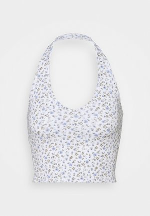 BARE HALTER - Top - white pattern