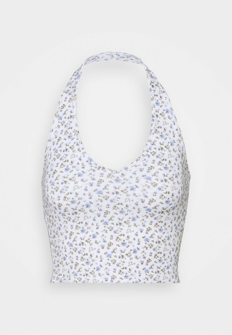 Hollister Co. - BARE HALTER - Topper - white pattern