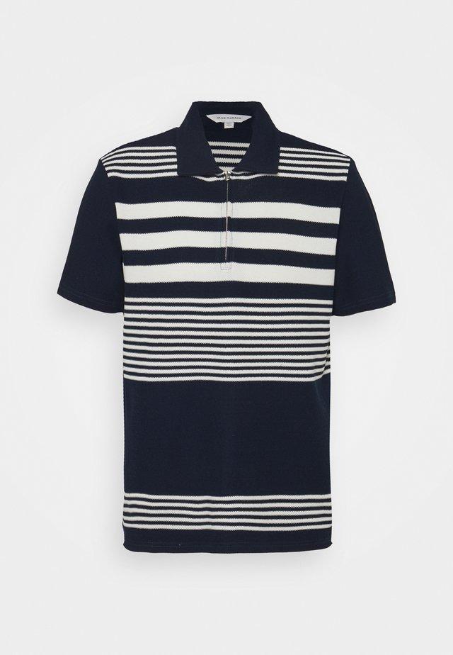 BLOCK STRIPE  - Polo shirt - navy