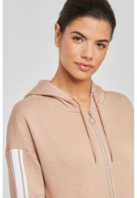 Bench - Zip-up hoodie - camelfarben-weiß - 3