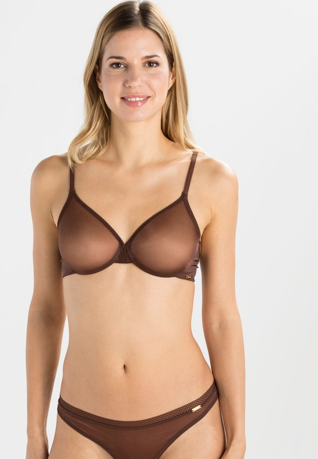 GLOSSIES BRA - Bygel-bh - rich brown