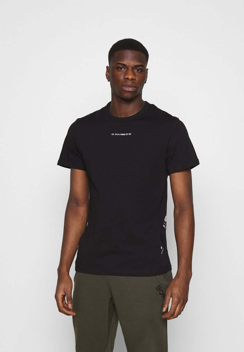 G-Star - SPORT A TAPE  - T-shirt con stampa - black