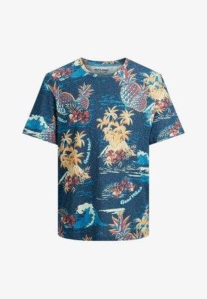T-shirt print - ensign blue