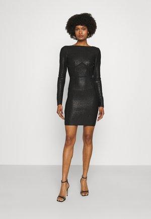 HERVE LEGER X JULIA RESTOIN ROITFELD DISCO OPEN BACK MINI DRESS - Cocktail dress / Party dress - black