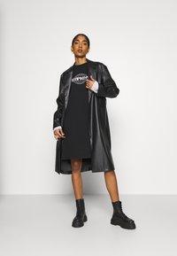 Weekday - TRACY DRESS - Jersey dress - black - 1