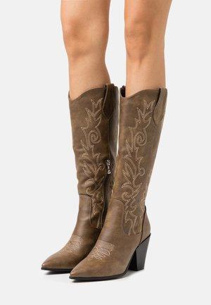 TRIUMPH - Cowboy/Biker boots - taupe