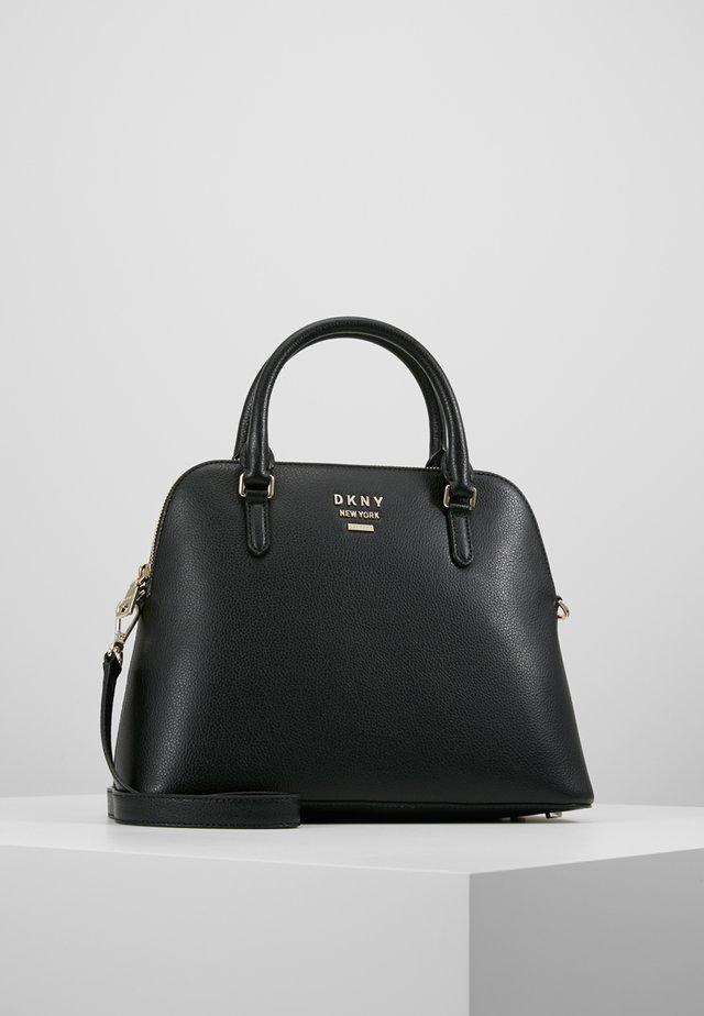 WHITNEY LARGE DOME SATCHEL - Handbag - black/gold