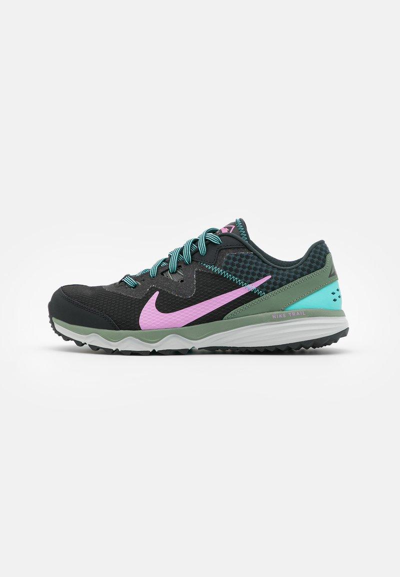 Nike Performance - JUNIPER TRAIL - Zapatillas de trail running - off noir/beyond pink/seaweed/aurora green/spiral sage/light silver