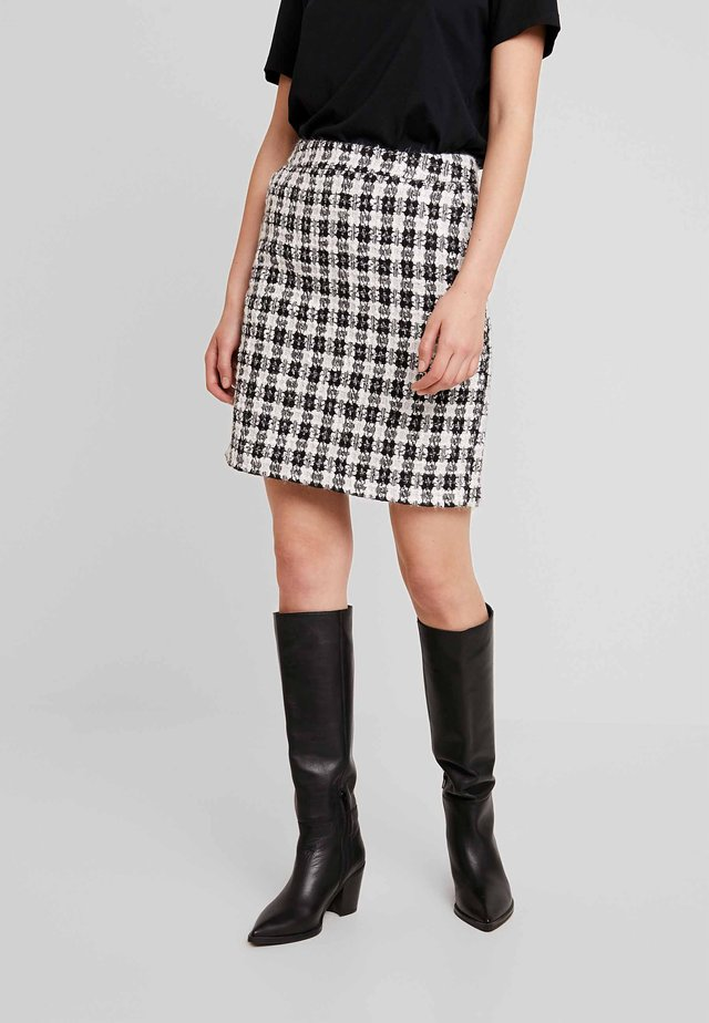 SKIRT  - Pouzdrová sukně - black/white