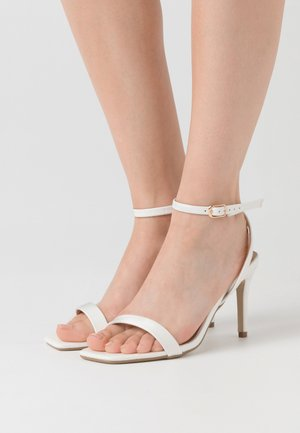 MID BARELY THERE FLOW - High heeled sandals - white