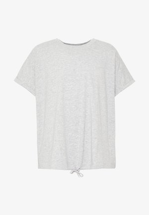 Print T-shirt - mottled grey/light yellow