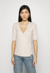 GAP - WRAP - T-shirts - oatmeal heather - 0