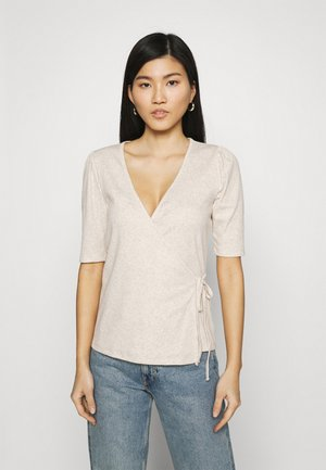 WRAP - T-shirts - oatmeal heather