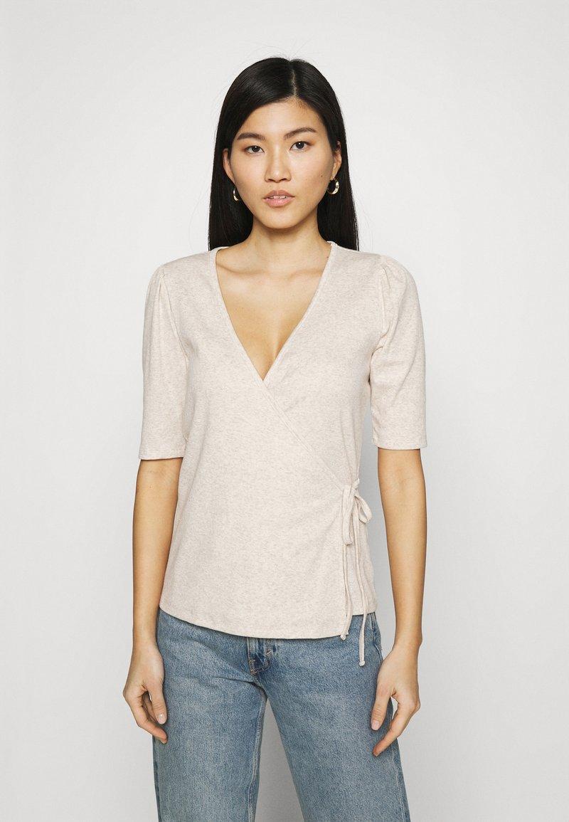 GAP - WRAP - T-shirts - oatmeal heather