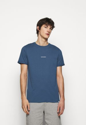 LENS - T-shirt - bas - denim blue/white