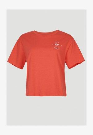 CALIFORNIA SURF - T-shirt print - cayenne coral