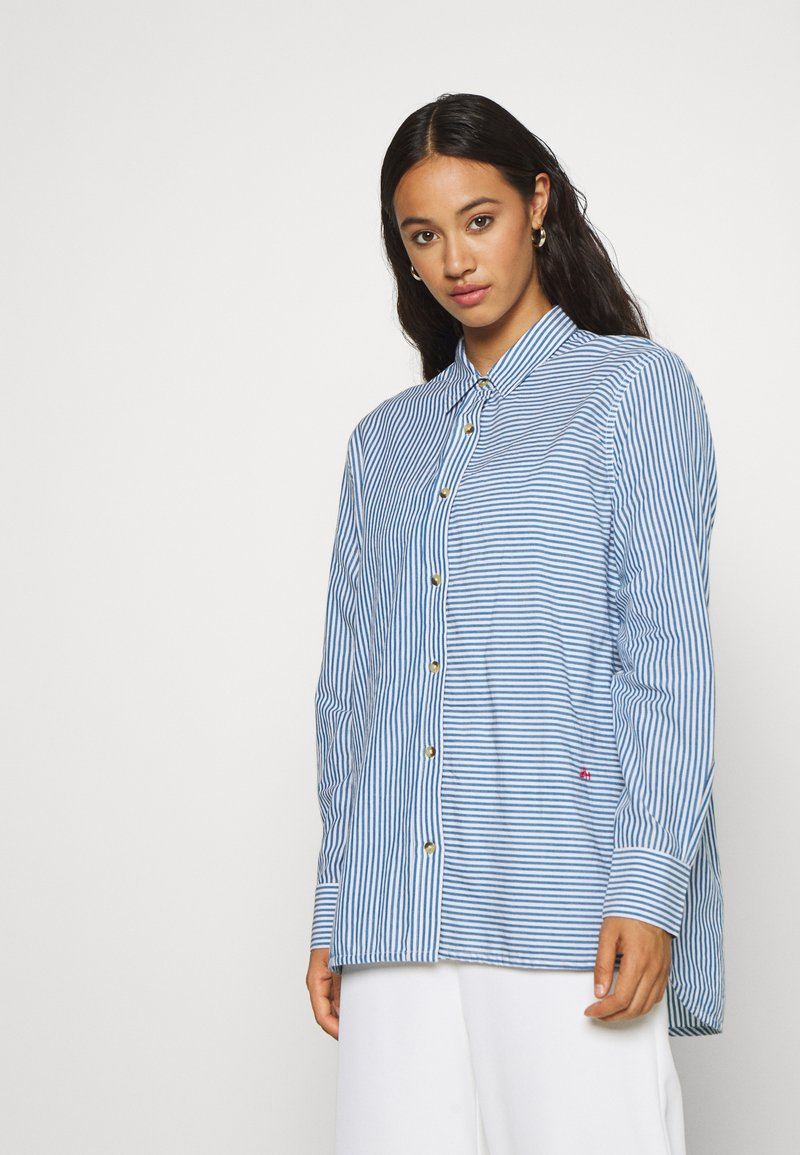 Leon & Harper - CRIQUETTE STRIPES - Button-down blouse - blue/white