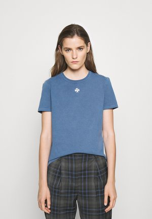 LOGO PATCH - Jednoduché triko - washed dark dawn blue