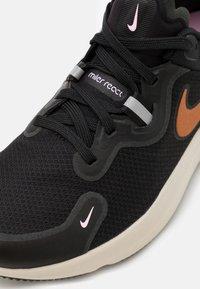 Nike Performance - REACT MILER - Zapatillas de running neutras - black/metallic copper/light arctic pink/light orewood brown - 5