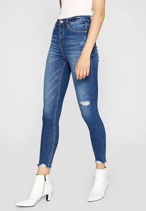 SUPERHOHEM BUND - Jeans Skinny Fit - blue-black denim