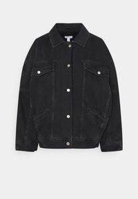 Topshop Petite - BORD DAD JACKET - Denim jacket - washed black - 0