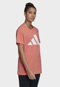 adidas Performance - LOGO T-SHIRT - Print T-shirt - red - 2