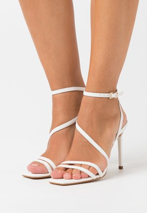 FRELIAN - High heeled sandals - white
