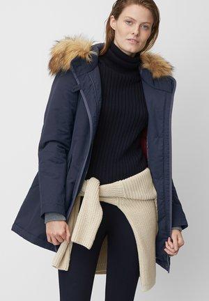 Winter coat - mottled blue
