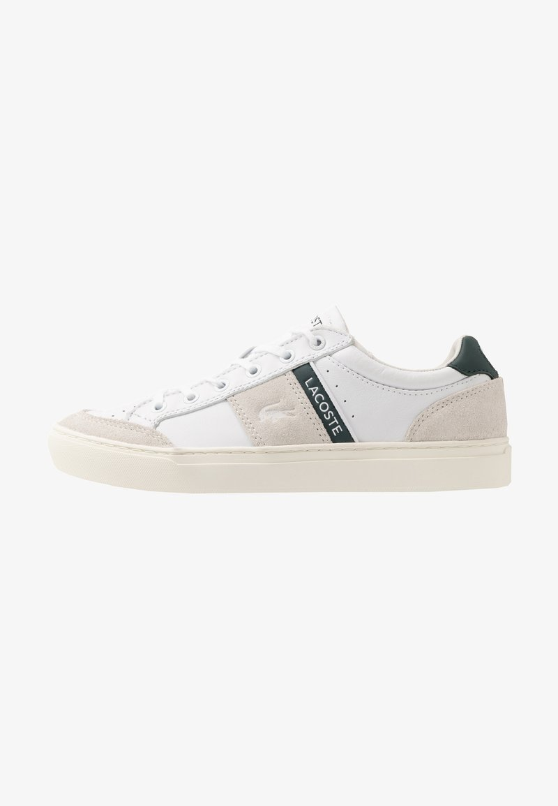 Lacoste - COURTLINE - Sneakers laag - white/dark green