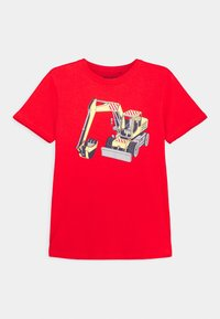 Blue Seven - BOYS DIGGER FIRETRUCK PACK 3 - T-shirt z nadrukiem - red/blue/yellow - 1