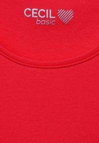Cecil - Basic T-shirt - rot - 4