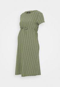 Supermom - DRESS STRIPE - Jersey dress - dusty olive - 0