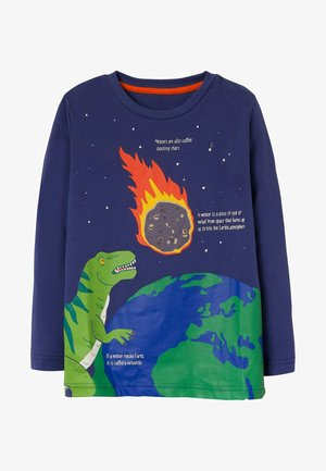 Long sleeved top - segelblau, asteroid mit dinosaurier