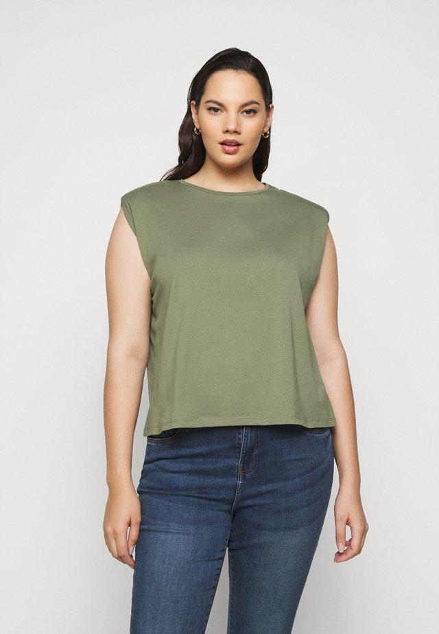 PCLIZ - Basic T-shirt - deep lichen green
