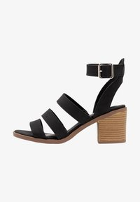 Rubi Shoes by Cotton On - HARRIS STACK HEEL - Sandalias - black - 1