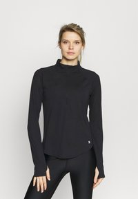 Under Armour - STREAKER HALF ZIP - Long sleeved top - black - 0
