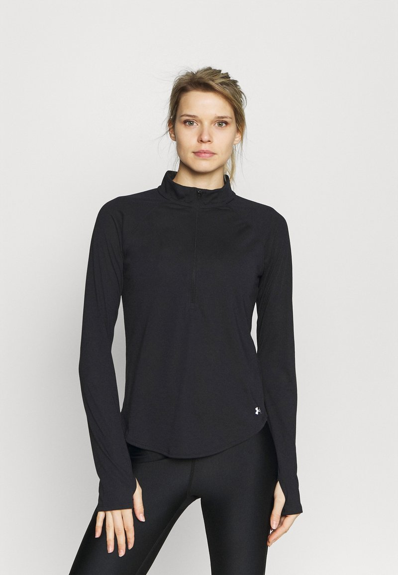 Under Armour - STREAKER HALF ZIP - Topper langermet - black