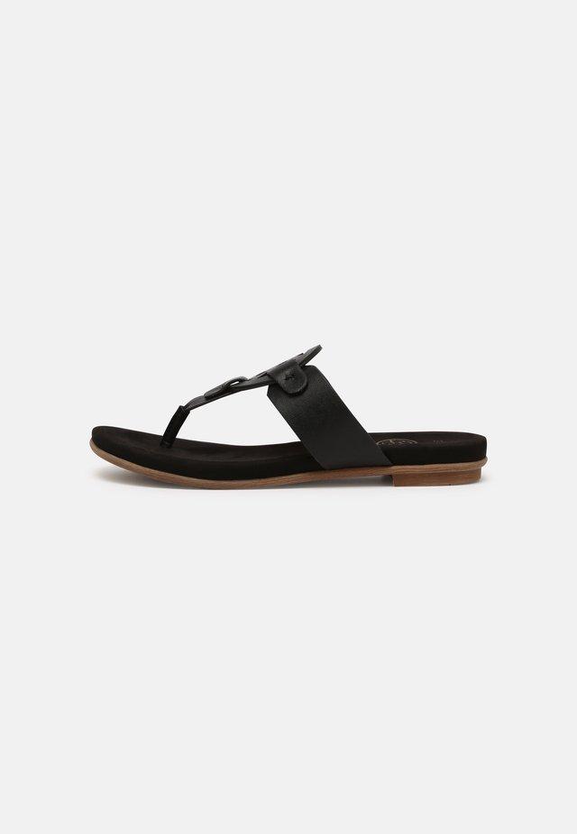 JASMIN - Sandalias de dedo - black