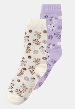 FLOWERS 2 PACK - Socks - rosa/off-white