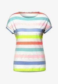 Cecil - MIT STREIFEN - Print T-shirt - weiß - 3
