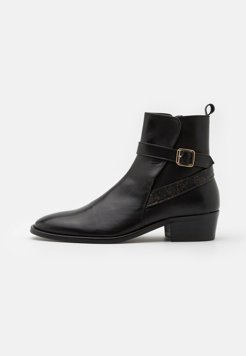 Walk London - HALO STRAP CUBAN - Bottines - black